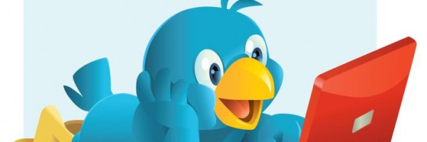 Twitter Bird on Laptop Feature Image.