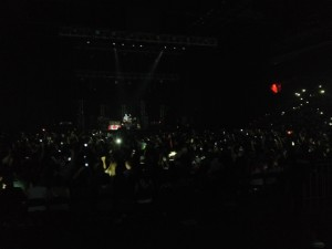 Dallas Green asking everyone to hold up their smart phones and turn them off for 3 minutes to hear the next song, not being busy trying to capture it.
