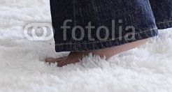 From the original stock art, you can see why the feet do not work. The placement does not allow for an object underneath. The perspective becomes distorted.