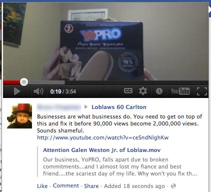 facebook protest loblaws