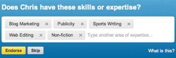 feature linkedin endorse