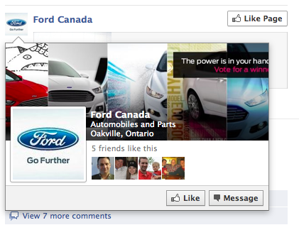 ford facebook over